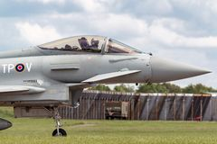 Royal Air Force RAF Eurofighter EF-2000 tyfon FGR4 ZK308 från inget skvadron som 29R baseras på RAF Coningsby Royaltyfria Foton