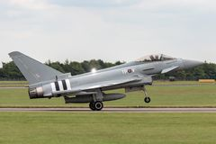 Royal Air Force RAF Eurofighter EF-2000 tyfon FGR4 ZK308 från inget skvadron som 29R baseras på RAF Coningsby Royaltyfria Bilder