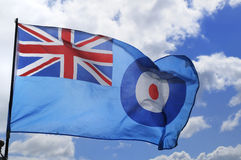 Royal Air Force or RAF Flag. The flag of the Royal Air Force or RAF Stock Image