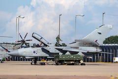 Royal Air Force RAF Panavia Tornado GR4 military jet at RAF Waddington. stock photography