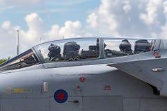 Royal Air Force RAF Panavia Tornado GR4 ZA606 XV dello squadrone della R basato a RAF Lossiemouth immagini stock libere da diritti