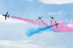 Royal Air Force Red arrows - air show In Estonia Tallinn 2014 ye Stock Image