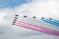 Royal Air Force Red arrows - air show In Estonia Tallinn 2014 ye Stock Photography