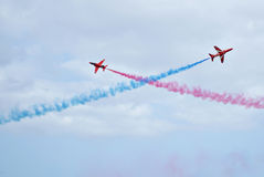 Royal Air Force Red Arrows Display Royalty Free Stock Photo