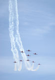 Royal Air Force Red Arrows Display Stock Photography