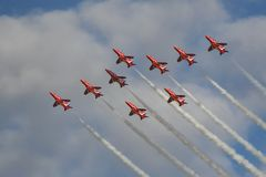 Royal Air Force Red Arrows Air Display Stock Images
