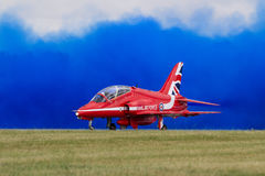 Royal Air Force Red Arrows Display Team at The Royal Internation Stock Image