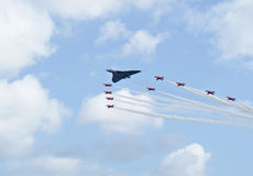 Royal Air Force-rote Pfeil-Bildschirmanzeige Stockbild