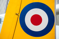 Royal Air Force Roundel. On tail of plane Stock Photo