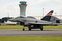 Royal Air Force Typhoon fighter Stock Images