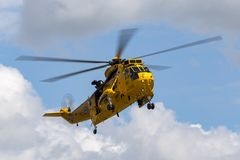 Royal Air Force Westland Sea King HAR3 search and rescue helicopter XZ595 from 202 squadron based at RAF Valley. RAF Waddington, Lincolnshire, UK - July 5, 2014 stock photography