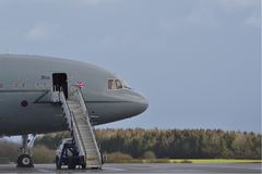 Royal Air Force ZD952 Airplane on runway royalty free stock image