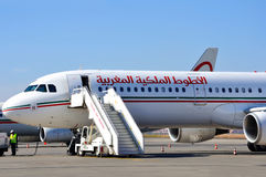 Royal Air Maroc aircraft Stock Image