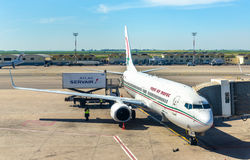 Royal Air Maroc aircraft in Casablanca Airport Royalty Free Stock Image
