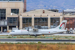 Royal Air Maroc aircraft taxiing for take-off Stock Image