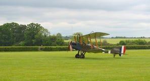 Royal Aircraft Factory B.E.2s landing Stock Images