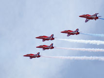 Royal Airforce Red Arrows Display Team Royalty Free Stock Photos