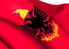 Royal Albanian Army Flag Stock Photo