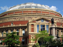 Royal Albert Hall. The Royal Albert Hall opened by Queen Victoria in 1871 is Britain's foremost arts theatre and is best known for holding The Proms each year Royalty Free Stock Image