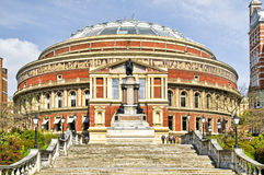 Royal Albert Hall. At Spring time royalty free stock image