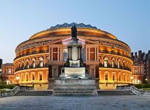 Royal Albert Hall. At Night, London royalty free stock image