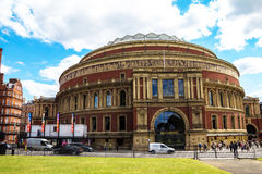 Royal Albert Hall of Arts and Sciences, London, England, UK, in late afternoon daylight. Royal Albert Hall of Arts and Sciences, large prestigious  concert hall Royalty Free Stock Photo
