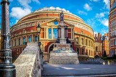 Royal Albert Hall. The Royal Albert hall entrance in South Kensington, London, UK stock photography