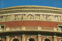 Royal Albert Hall, frieze. Royal Albert Hall, mosaic frieze Stock Image