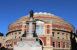 Royal Albert Hall. The Royal Albert Hall in Kensington, London with the statue of Albert in the foreground Royalty Free Stock Photography