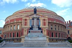 Royal Albert Hall in London. The Royal Albert Hall is an arts venue situated in the Knightsbridge area of the City of Westminster, London, England, best known Stock Photo
