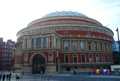 Royal Albert Hall. London, England. Royal Albert Hall is a concert hall on the northern edge of South Kensington, London, best known for holding The Proms Royalty Free Stock Photo