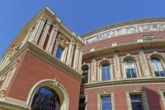 Royal Albert Hall, London, England. Detail of The Royal Albert Hall in London, England stock images