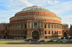 Royal Albert Hall, London, England, UK. In late afternoon daylight Stock Images