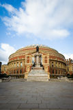 Royal Albert Hall, London. The iconic architecture of the Royal Albert Hall in Kensington, West London.  The music venue is home to the popular Proms series of Royalty Free Stock Photo