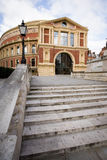 Royal Albert Hall, London. The iconic architecture of the Royal Albert Hall in Kensington, West London.  The music venue is home to the popular Proms series of Stock Photo