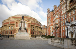 Royal Albert Hall, London. The iconic architecture of the Royal Albert Hall in Kensington, West London.  The music venue is home to the popular Proms series of Stock Photography