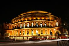 Royal Albert Hall at Night Stock Photos