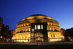 Royal Albert Hall at Night Stock Photo