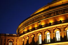 Royal Albert Hall at Night Stock Photos