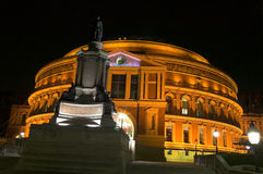 Royal Albert Hall at night. The Royal Albert Hall, built 1867-71 was built to commemorate the death of Queen Victoria's belove consort Prince Albert and is the Royalty Free Stock Photos
