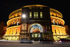 The Royal Albert Hall. In the night, BBC PROMS Royalty Free Stock Photos