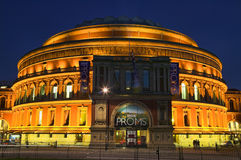 Royal Albert Hall at night. London, United Kingdom, August 9, 2007 : The Royal Albert Hall, Kensington at night where the Proms are performing Stock Image