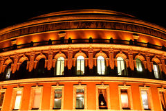 Royal Albert Hall at night. Night shot of the Royal Albert Hall, Kensington,  London, England, UK, built 1867-71 to commemorate the death of Queen Victoria Stock Photography