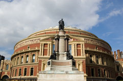 Royal Albert Hall and Prince Albert Statue, Kensin Royalty Free Stock Image