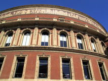 Royal Albert Hall Showing Frieze. The Royal Albert Hall opened by Queen Victoria in 1871 is Britain's foremost arts theatre and is best known for holding The Royalty Free Stock Photos