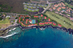 Royal Aloha Vacation Club. Aerial shot of the Royal Aloha Vacation Club in Kailua-Kona, Big Island, Hawaii, USA stock photo