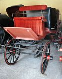 Royal ancient Red hoarse cart Royalty Free Stock Images