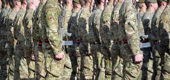 Royal Anglian Regiment on Parade. Stock Images