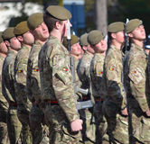 Royal Anglian Regiment on Parade. Stock Image