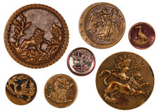 Royal Antique Sewing Buttons stock image